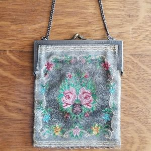 VINTAGE VICTORIAN LATE 1800'S BEADED PURSE